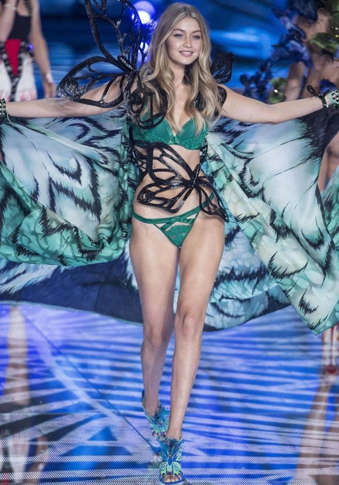 Gigi Hadid Victorias Secret Brian Atwood 1