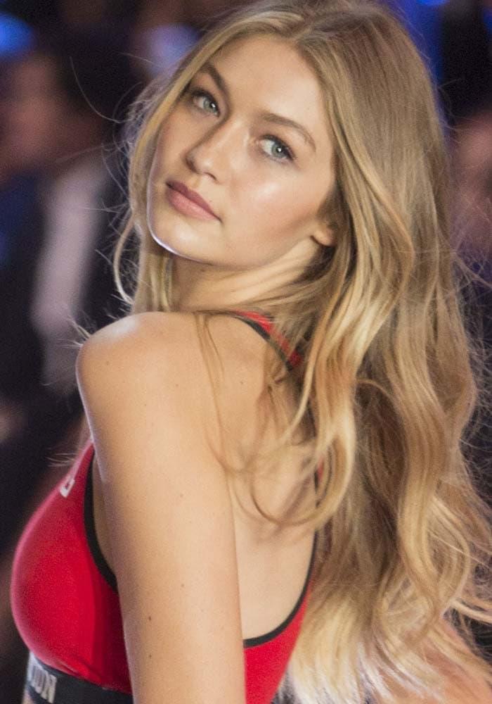 Gigi Hadid Victorias Secret Brian Atwood 4