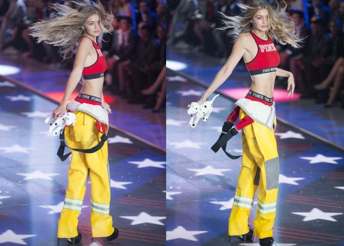 Gigi Hadid Victorias Secret Brian Atwood 5