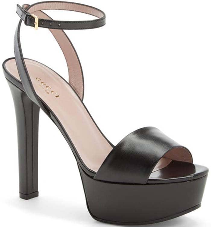 "Gucci ""Leila"" Platform Leather Sandals"