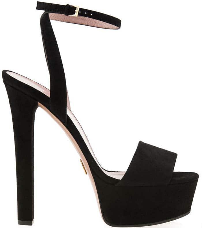 "Gucci ""Leila"" Suede Platform Sandals"