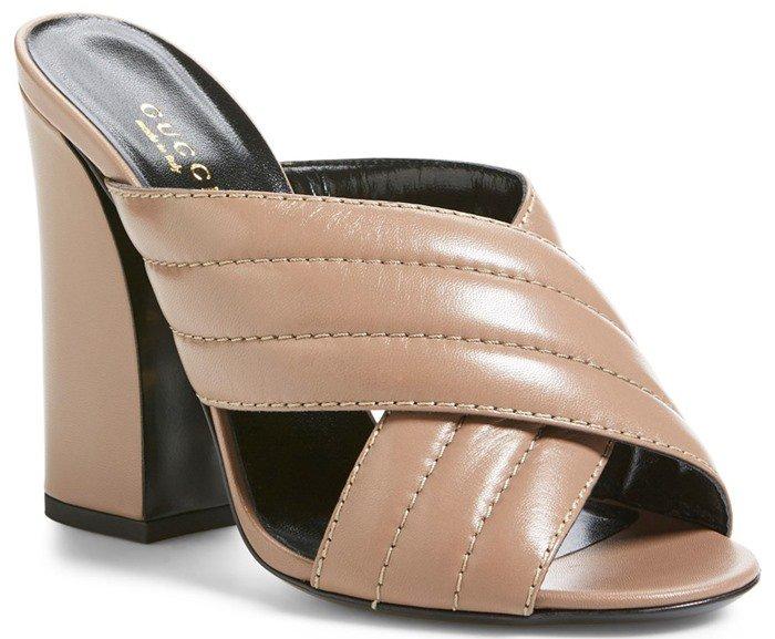Gucci 'Sylvia' Sandal Rose Leather