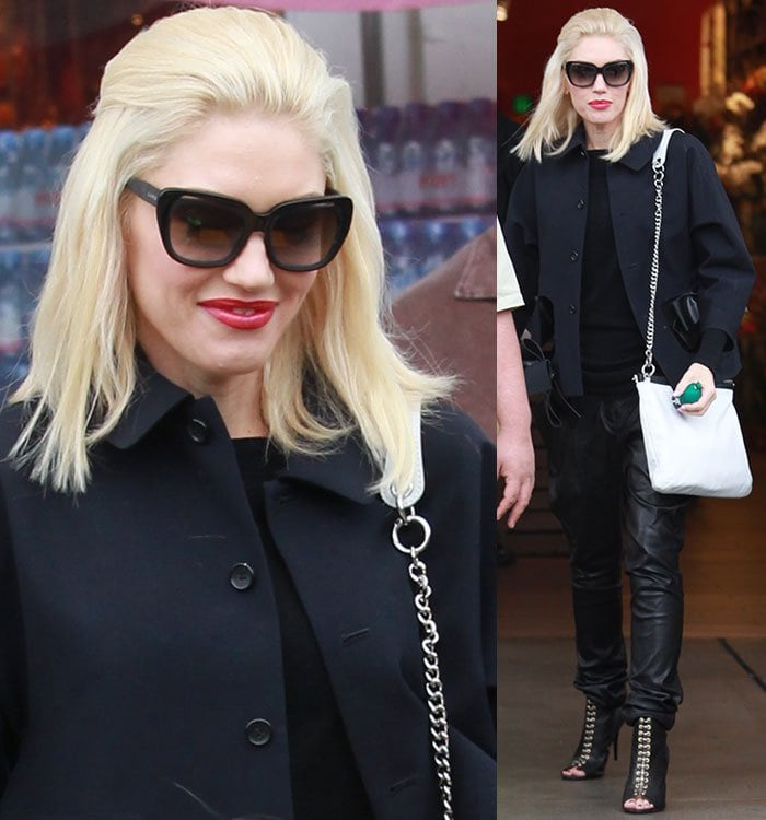 Gwen Stefani shops at Bristol Farms with her family
