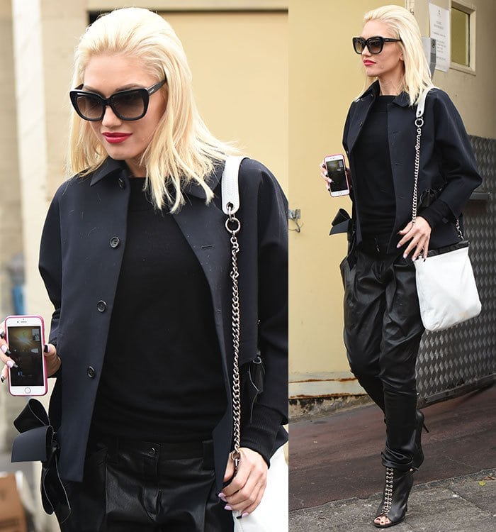 Gwen Stefani and her family visit Jewish deli Nate 'n Al's in Beverly Hills