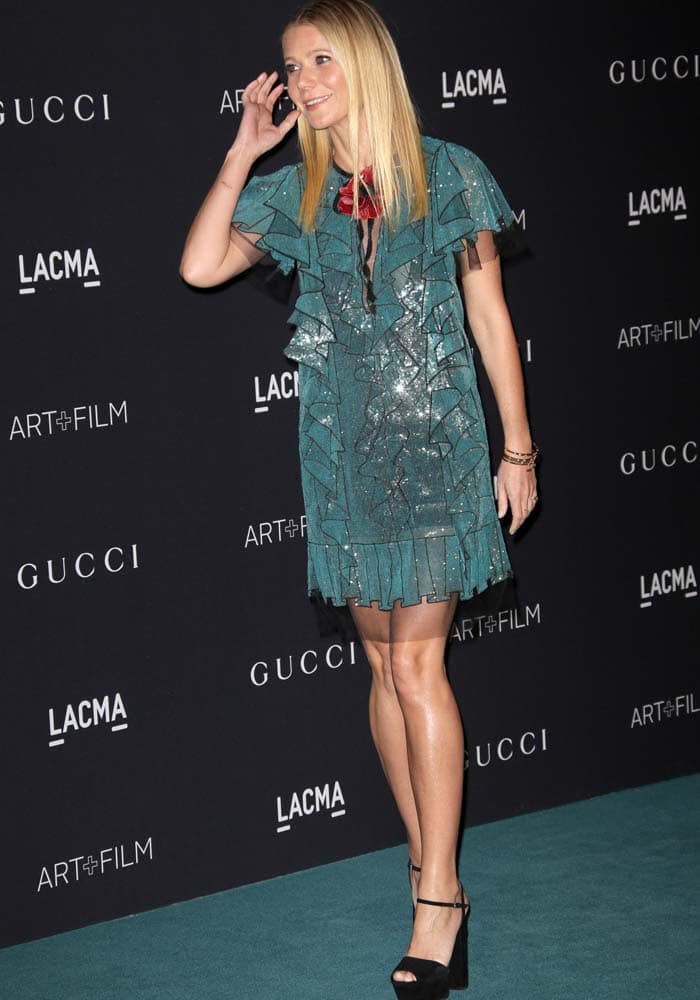 Gwyneth Paltrow at the LACMA 2015 Art+Film Gala honouring James Turrell And Alejandro G Inarritu