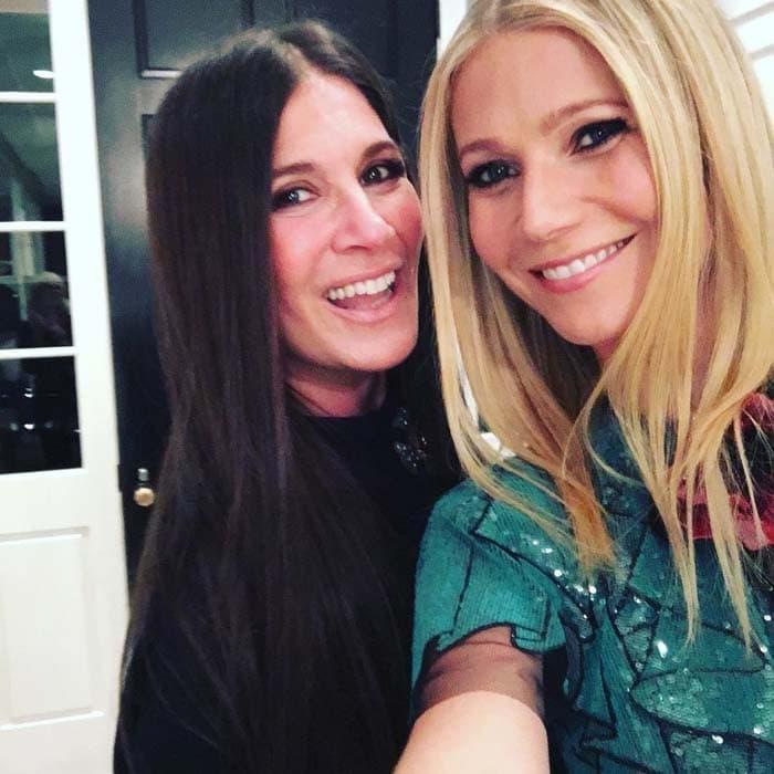 Gwyneth Paltrow excitedly uploads a photo with her stylist friend, Elizabeth Saltzman