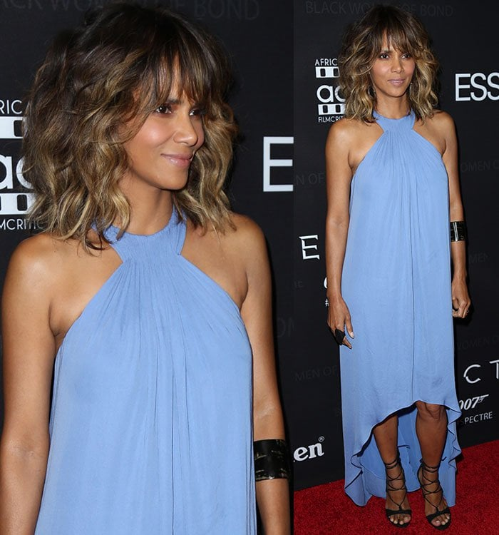 Halle-Berry-Halston-Heritage-blue-halter-dress