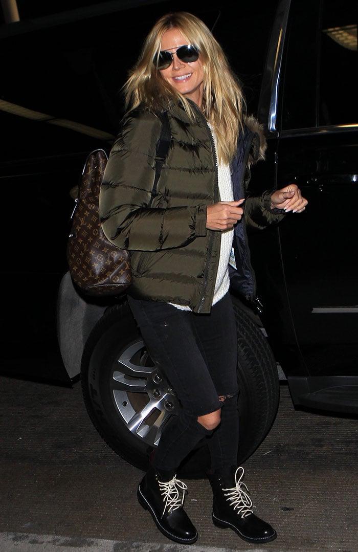 Heidi-Klum-airport-look