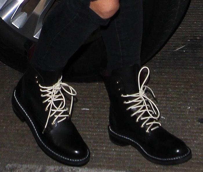 Heidi-Klum-moto-boots-white-lace