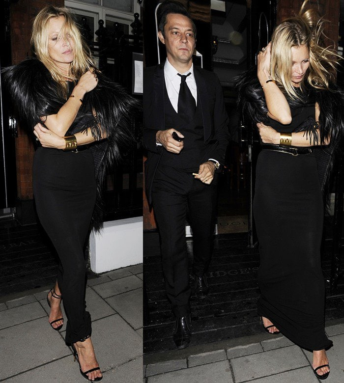 Kate Moss and Jamie Hince leaving Claridges in London on May 15, 2012
