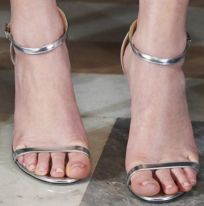 Jennifer Lawrence wearing Jimmy Choo heels