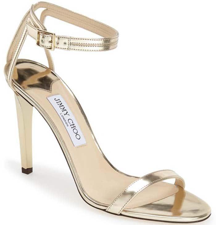 "Gold Jimmy Choo ""Daisy"" Sandal"