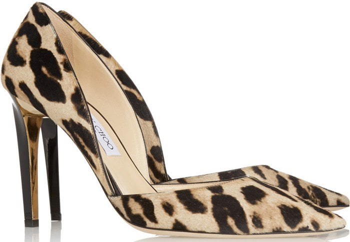 Jimmy Choo Darylin leopard-print calf hair pumps
