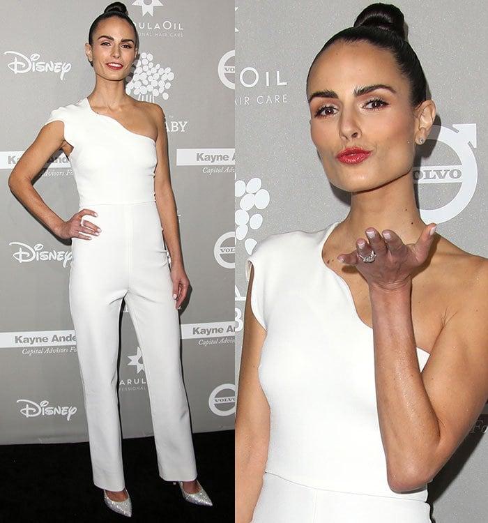 Jordana-Brewster-Cushnie-et-Ochs-white-one-shoulder-jumpsuit