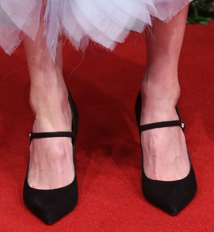 Kate Bosworth shows off her feet in black Lula heels