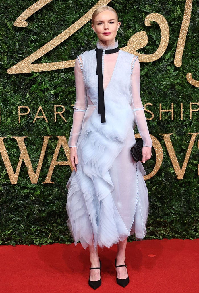 Kate Bosworth wears a Victorian-style dress from Erdem on the red carpet