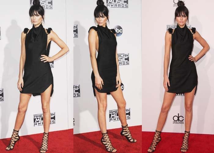 Kendall Jenner wears an Oriett Domenech dress on the red carpet