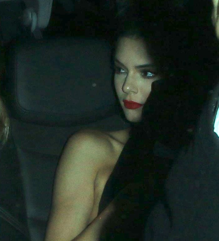 Kendall Jenner leaves The Nice Guy in West Hollywood after her birthday party