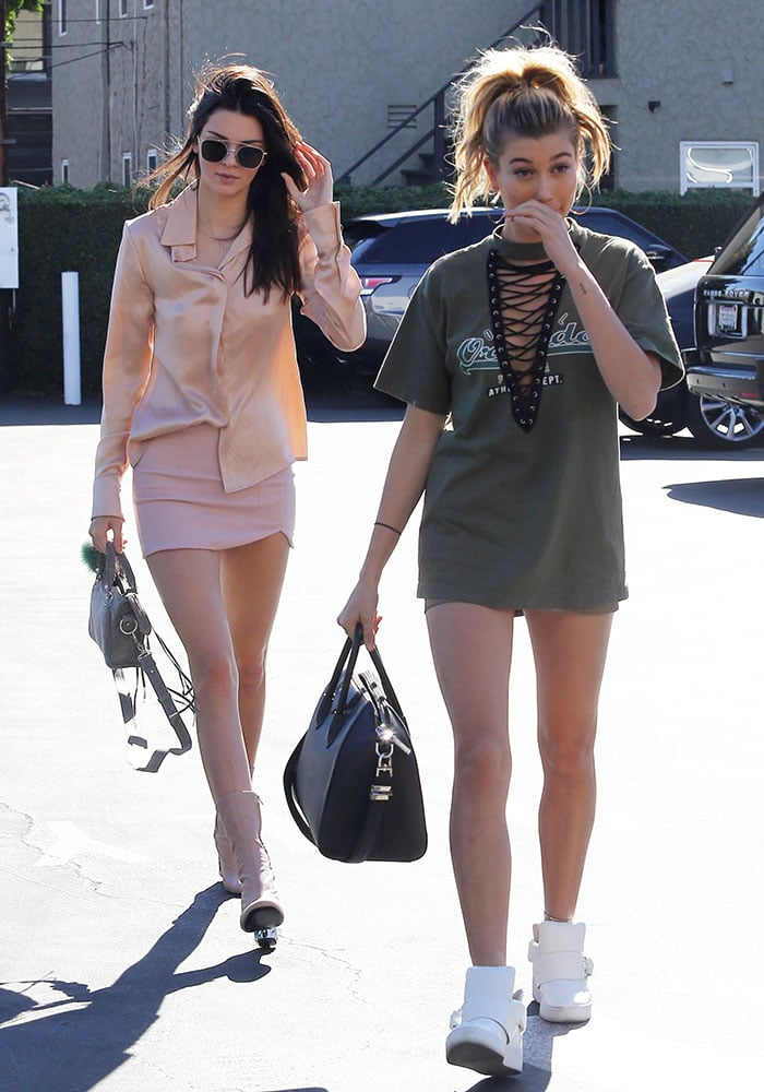 Kendall Jenner and Hailey Baldwin spend a day out in Los Angeles