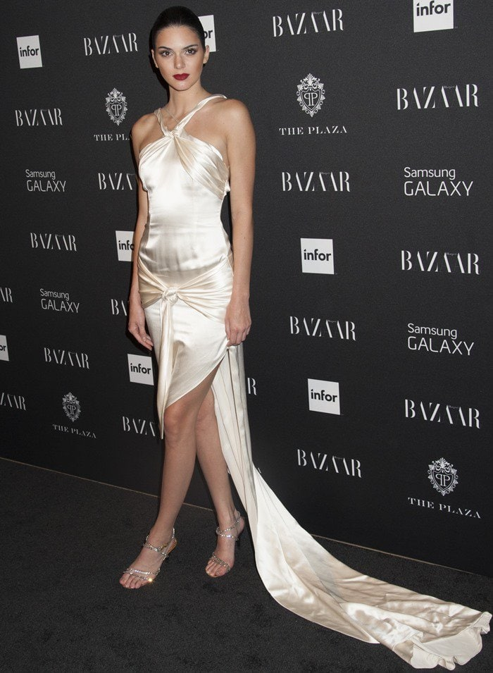 Kendall Jenner at the Harper's Bazaar Celebrates Icons by Carine Roitfeld event at The Plaza Hotel in New York City on September 5, 2014