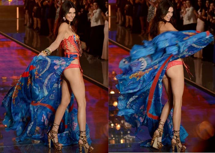 Kendall Jenner walks the runway at this year's prestigious Victoria's Secret Fashion Show in New York