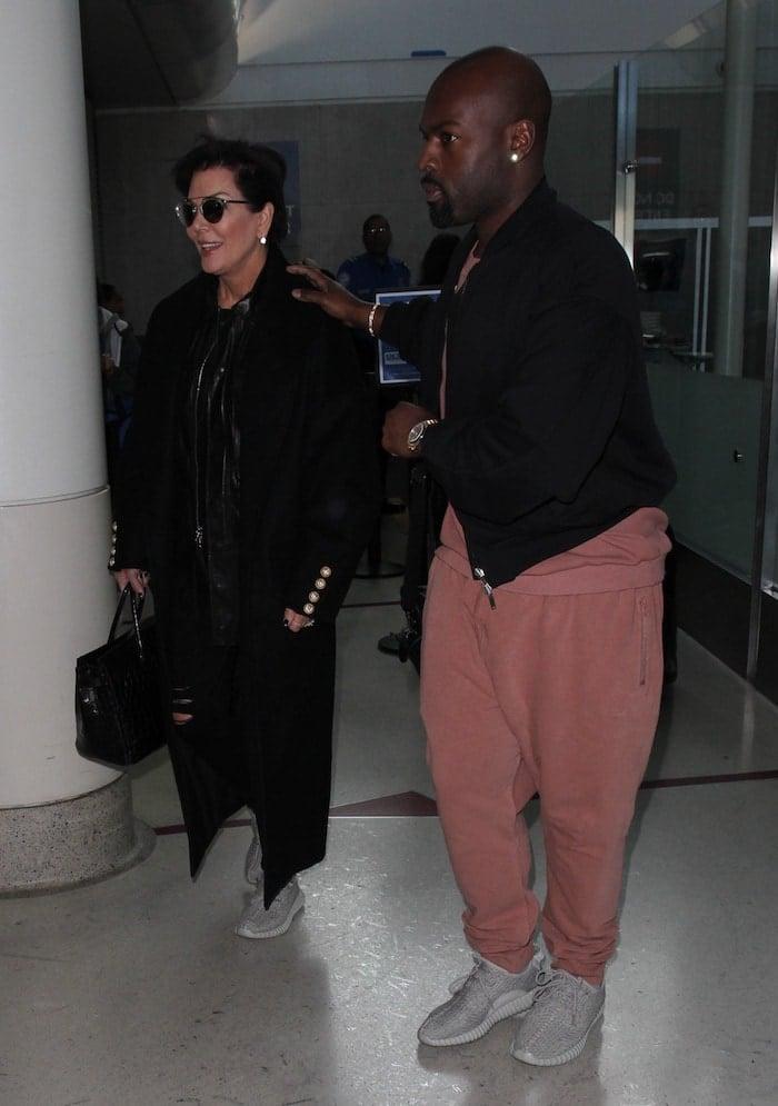 Kris Jenner Corey Gamble LAX