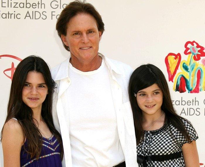 Kendall Jenner, Bruce Jenner and Kylie Jenner