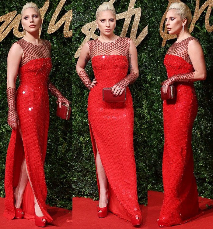 Lady Gaga at The British Fashion Awards 2015 held at London Coliseum in London on November 23, 2015