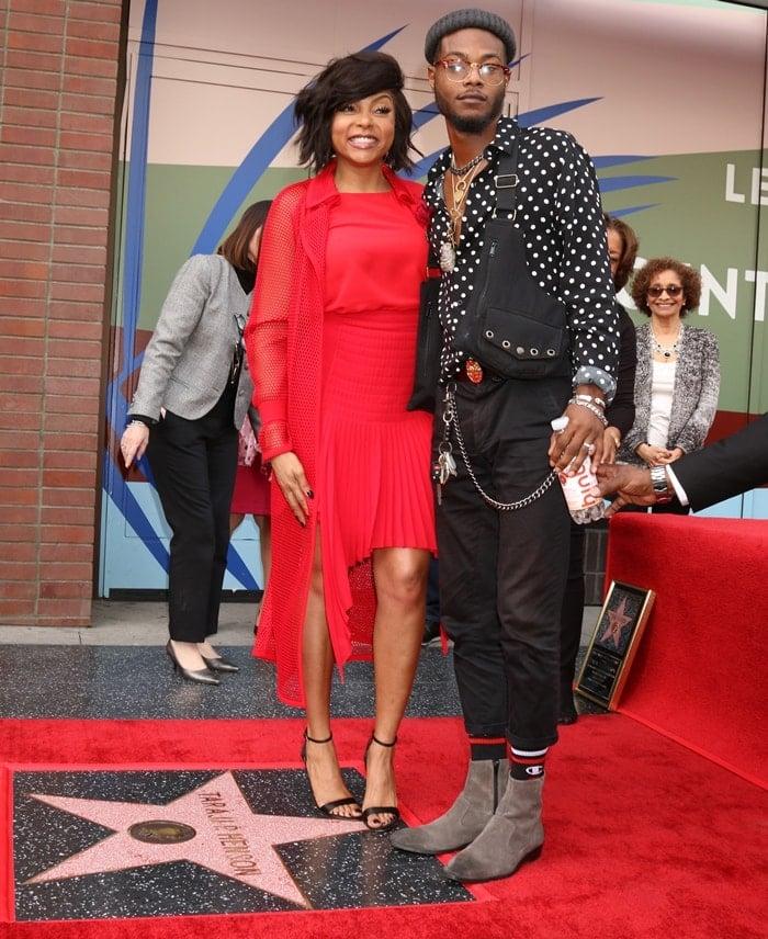 Marcell Johnson Joins His Mom Taraji P Henson At Hollywood Walk Of Fame