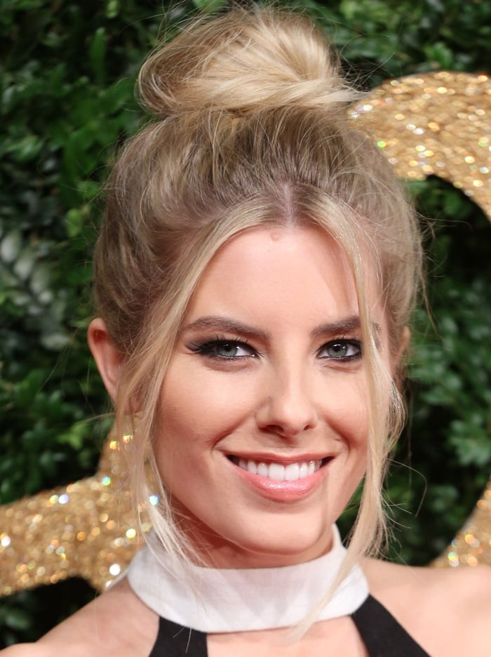 Mollie King at the 2015 British Fashion Awards held at the London Coliseum in London on November 23, 2015