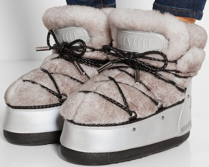 Moon Boot Jimmy Choo MB Buzz shearling and shell snow boots