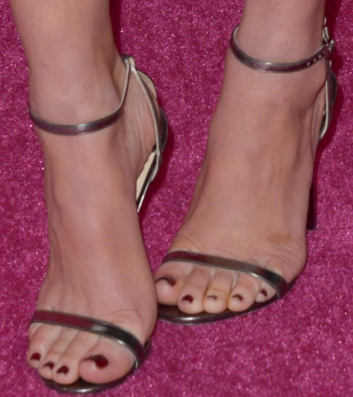 Olivia Munn's feet in Jimmy Choo sandals