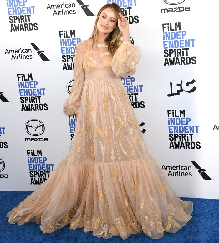 Olivia Wilde in a Fendi Spring 2019 Couture dress at the 2020 Film Independent Spirit Awards