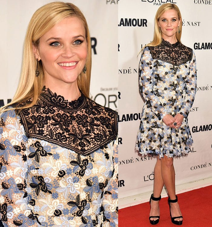 "Reese Witherspoon shows off her Solange Azagury-Partridge ""Celeste"" earrings"