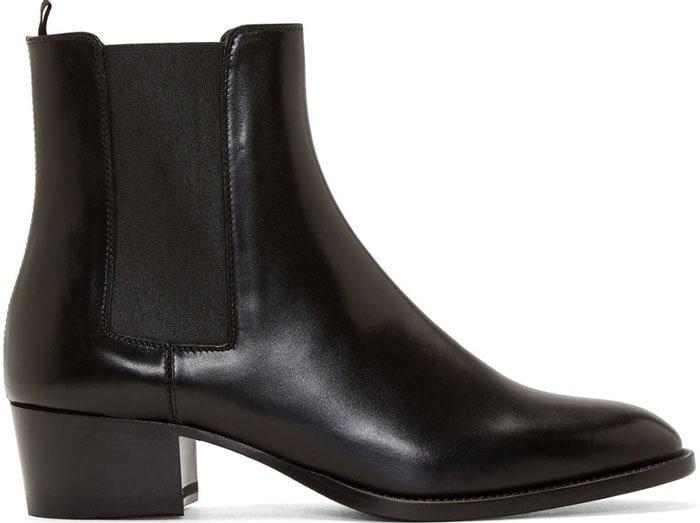 Black Saint Laurent Wyatt Ankle Boots