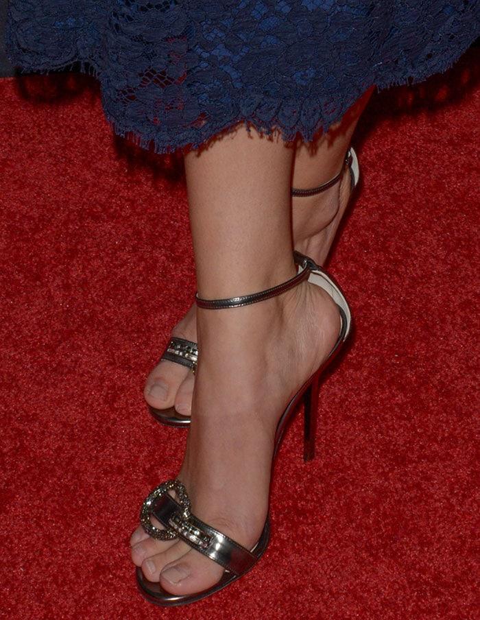 Sarah Hyland's feet in Jimmy Choo heels