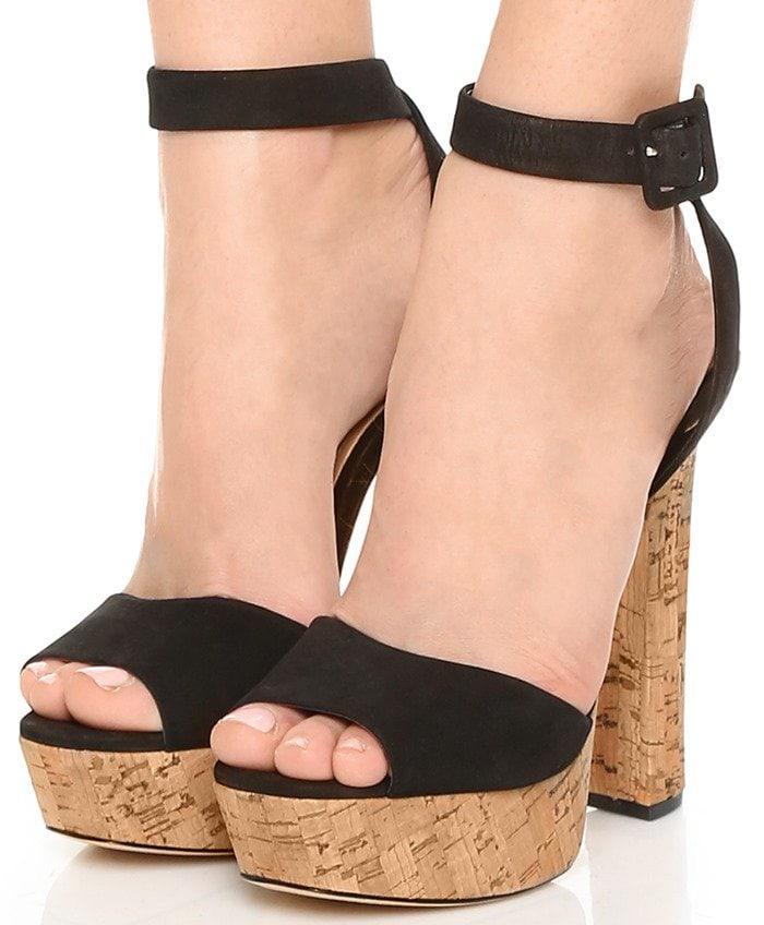 Schutz Amatista Platform Sandals - Black
