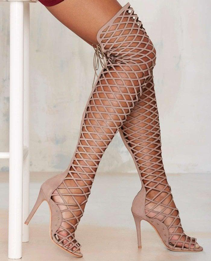 Schutz Karlyanna Knee-High Leather Heel