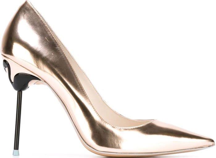 Sophia Webster Coco Flamingo Pumps Gold