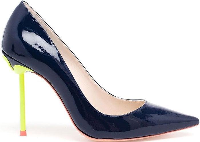 Sophia Webster Coco Flamingo Pumps Navy Neon Heels