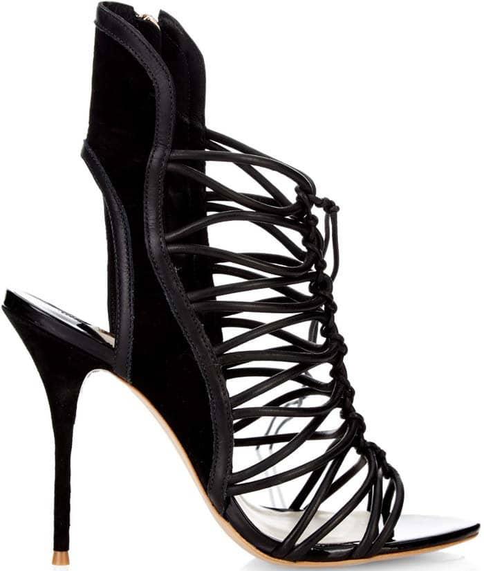 """Sophia Webster """"Lacey"""" Lace-Up Gladiator Sandal in Black"""