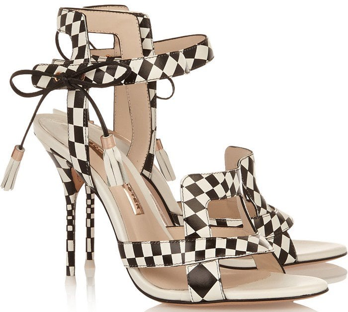 Sophia Webster Poppy checked leather sandals