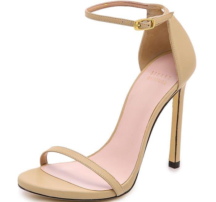 Light Camel Iconic Nudist Stiletto Sandals