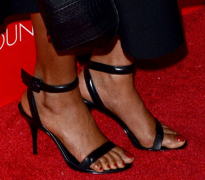 "Taraji P. Henson's feet in ""Antonia"" sandals"