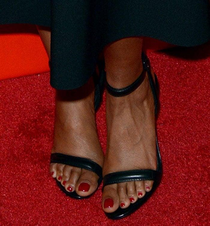 Taraji P. Henson's feet in Alexander Wang sandals