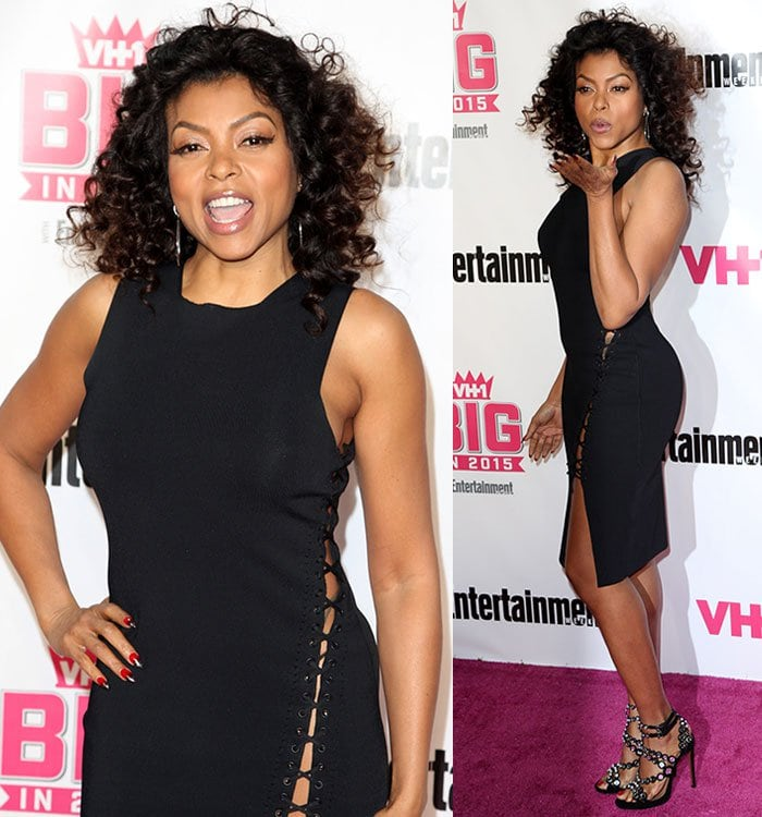 Taraji-P-Henson-Alexander-Wang-lace-up-cutout-side-dress