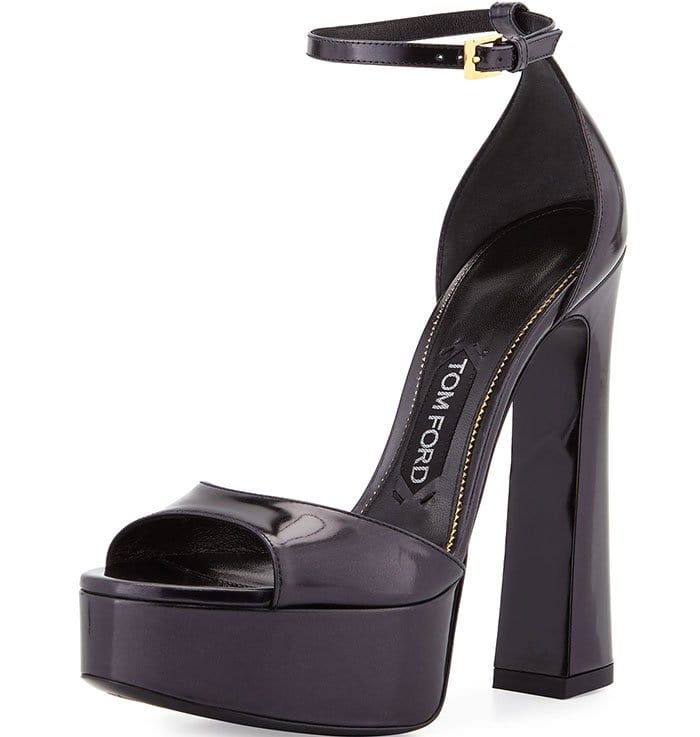 Tom Ford Patent Leather Platform Sandals