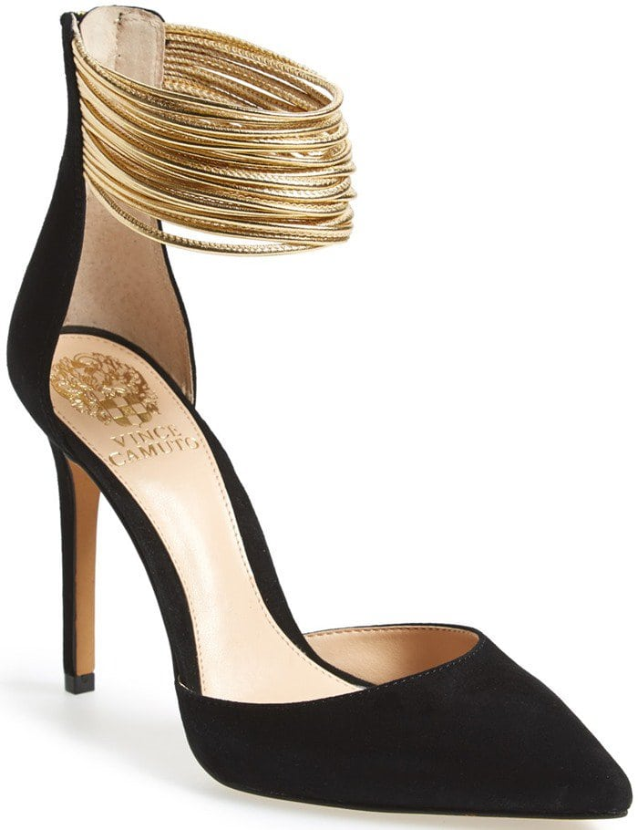233d3dd738 Sleek Vince Camuto Pumps With Metallic Leather Straps