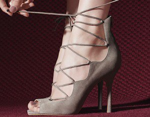 Vince Camuto 'Sandria' Lace Up Peep Toe Sandal
