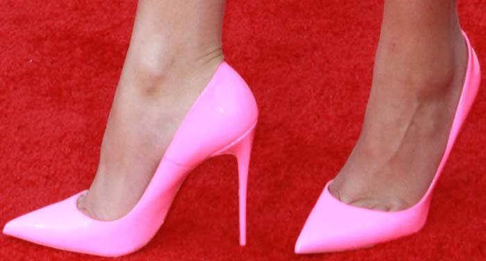 Zendaya's feet in Christian Louboutin pumps